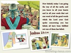 Joshua 23:14  God's Word Has Been Fulfilled (beige)