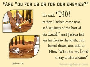 Joshua 5:14 Captain Of The Host Of The Lord (brown)