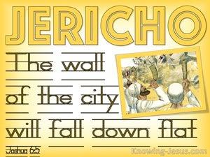 Joshua 6:5 The City Walls Will Fall Down Flat (yellow)