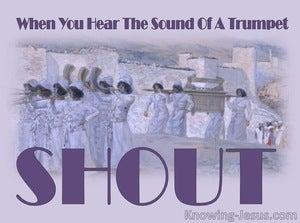 Joshua 6:5 When You Hear The Sound Of A Trumpet (purple)