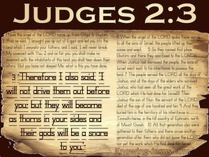 Judges 2:3 A Thorn In Your Side (beige)