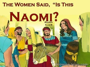 Ruth 1:19 The Women Said Is This Naomi (yellow)