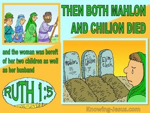 Ruth 1:5 Naomi Was Bereft Of Hier Children And Husband (yellow)