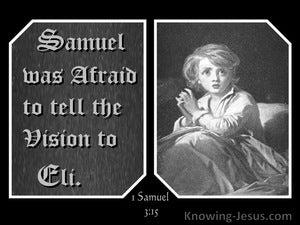 1 Samuel 3:15 Samuel Was Afraid To Tell Eli (gray)