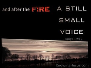 1 Kings 19:12 And After The Fire A Still Small Voice (silver)