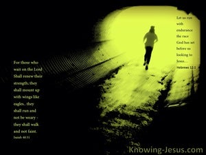 Isaiah 40:30 Run With Patience (devotional)11:11 (green)