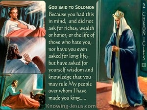 2 Chronicles 1:11 God Spoke To Solomon (green)