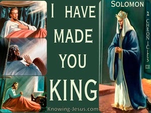 2 Chronicles 1:11 I Have Made You King SAGE