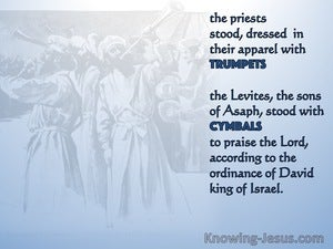 Ezra 3:10 They Praised The Lord (blue)