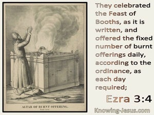 Ezra 3:4 They Celebrated The Feast Of Booths (cream)