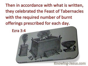 Ezra 3:4 They Celebrated The Feast Of Booths (red)