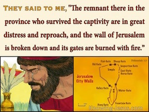 Nehemiah 1:3 The Remnant Are In Great Distress (yellow)
