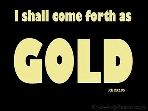 Job 23:10b He Knows The Way I Take (gold)