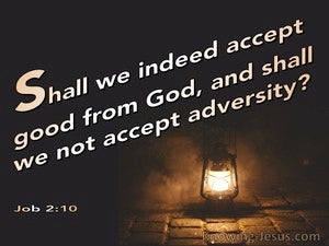 Job 2:10 Shall We Accept Good From God And Not Evil (brown)