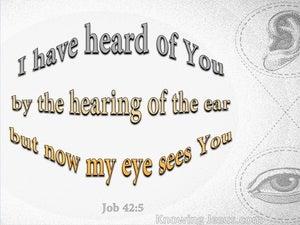 Job 42:5 I The Hearing Of The Ear (gray)