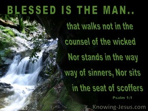 Psalm 1:1 Blessed Is The Man green