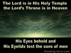 Psalm 11:4 The Lord Is In His Holy Temple (sage)