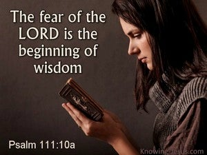 Psalm 111:10 The Fear Of The Lord brown