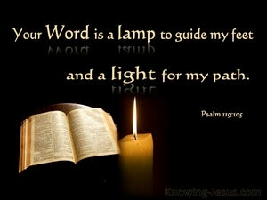 Psalm 119:105 Your Word Is A Light To My Path black
