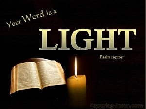 Psalm 119:105 Your Word Is A Light To My Path gold
