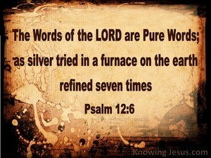 Psalm 12:6 The Words Of The Lord Are Pure brown