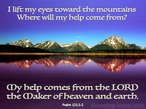 Psalm 121:1 My Help Comes From The Lord (blue)