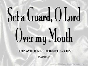 Psalm 141:3 Set A Guard On My Mouth silver