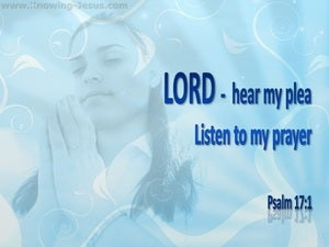 Psalm 17:1 Lord Hear My Plea blue