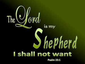 Psalm 23:1 The Lord Is My Shepherd black