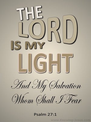 Psalm 27:1 The Lord My Light And My Salvation beige
