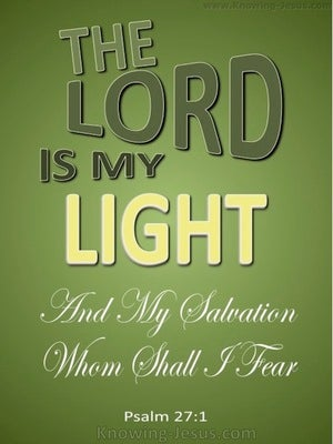 Psalm 27:1LOGO  The Lord My Light green