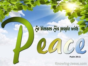 Psalm 29:11 He Blesses His People With Peace (white)