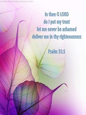 Psalm 31:1 In Thee I Put My Trust pink