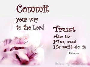 Psalm 37:5 Commit Your Way To The Lord pink