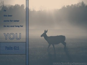 Psalm 42:1 As The Deer Pants For Water gray