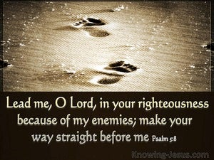 Psalm 5:8 Lead Me O Lord (beige)