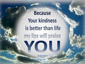 Psalm 63:3 Your Kindness Is Better Than Life (blue)