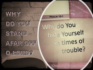 Psalm 10:1 Why O Lord Do You Hide Yourself (pink)