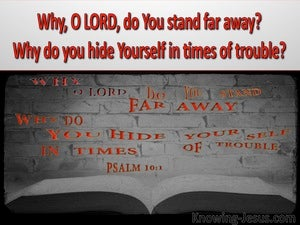 Psalm 10:1 Why O Lord Do You Hide Yourself (red)