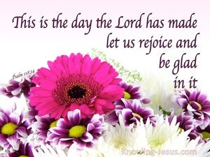Psalm 118:24 This Is The Day The Lord Has Made (purple)