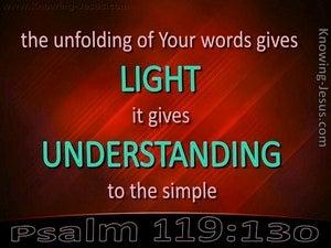 Psalm 119:130 Light of Understanding (red)