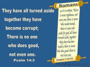 Psalm 14:3 There Is None Good : No Not One (blue)