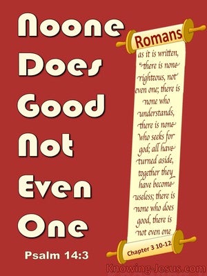 Psalm 14:3 There Is None Good : No Not One (red)