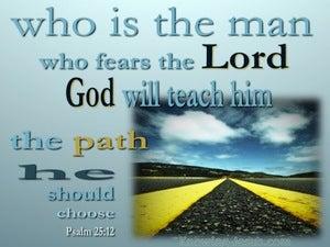 Psalm 25:12 He Who Fears God (aqua)