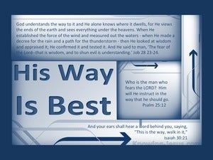 Job 28:23 God Understands The Way (blue)