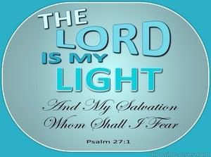 Psalm 27:1 The Lord My Light (aqua)