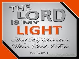 Psalm 27:1 The Lord My Light (orange)