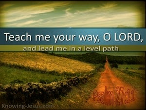 Psalm 27:11 Teach Me Your Way (green)