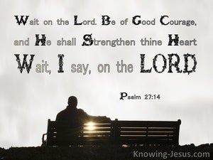 Psalm 27:14 Wait On The Lord Be Of Good Courage (black)