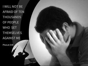 Psalm 3:6 I Will Not Be Afraid (gray)